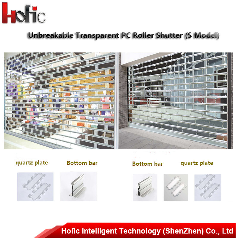 Automatic Glass Roller Shutter Door Interior Roll Up