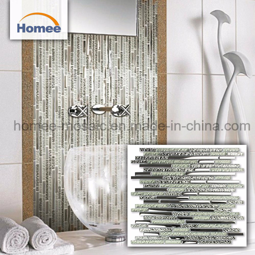 - China White Glitter Wall Mirror Crackle Diamond Crystal Glass