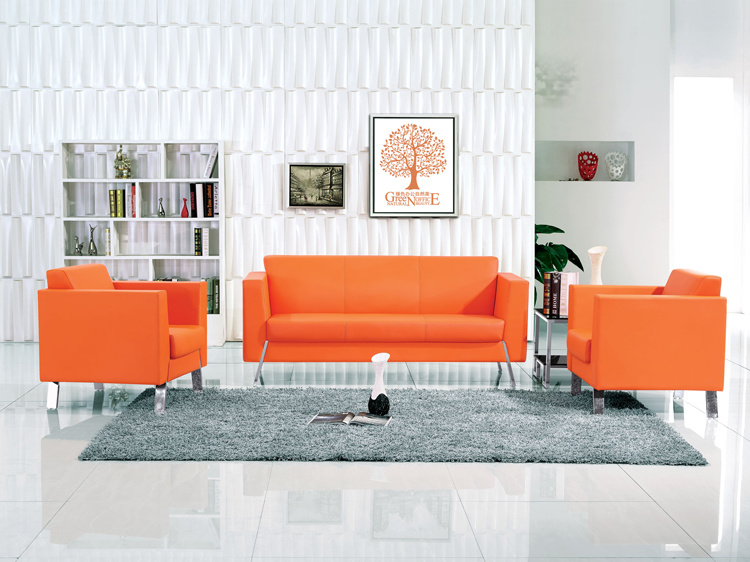 [Hot Item] Different Colors of PU Type Office Lounge Sofa for Office  Reception Seating