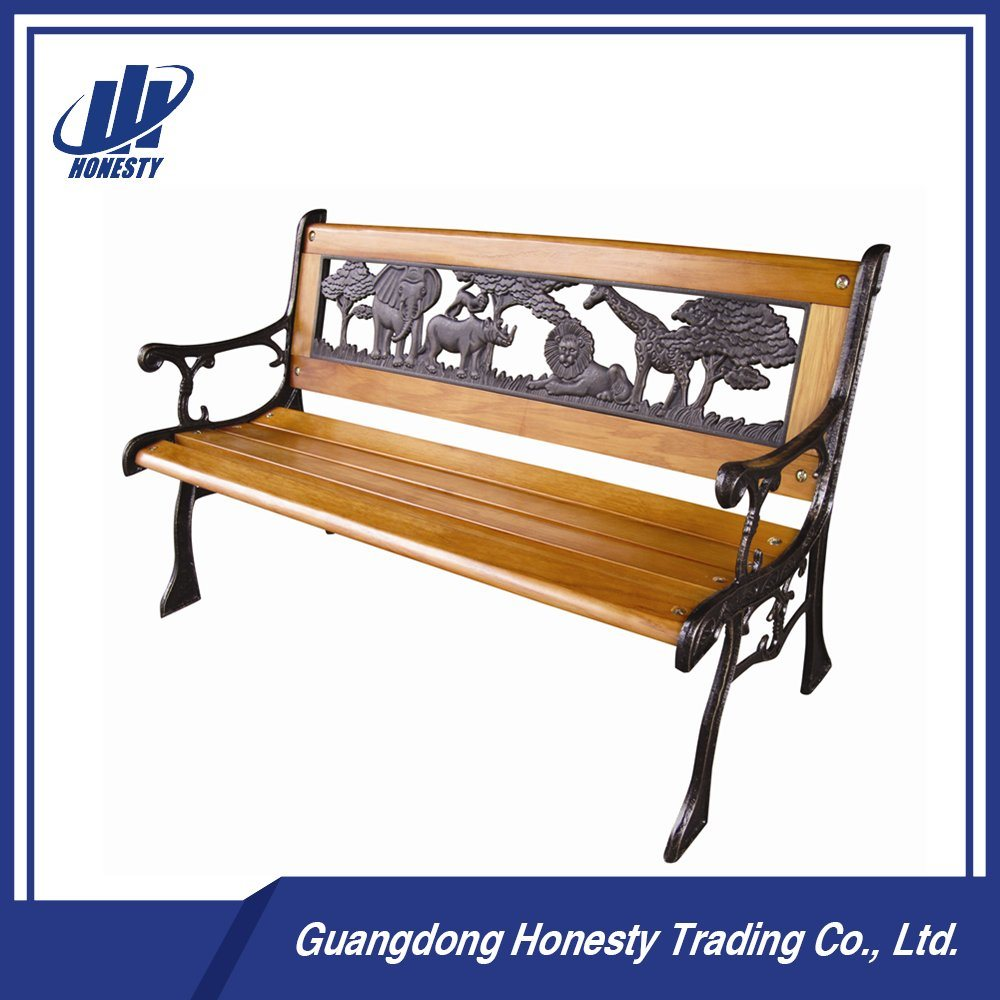 China Pb 001 Wooden Park Bench With Cast Iron Back Park Furniture