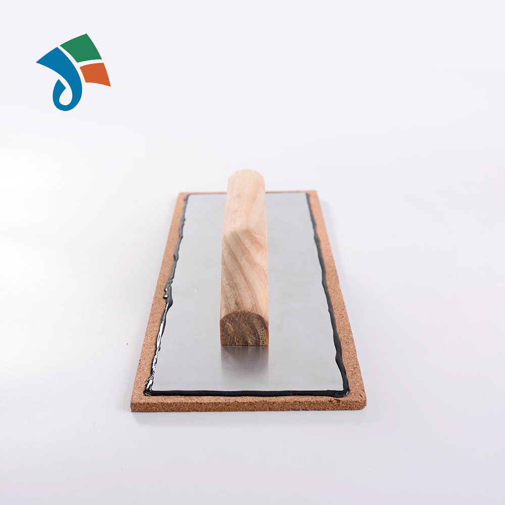 China Aluminum Backing Cork Float Trowel With Wooden Handle Photos