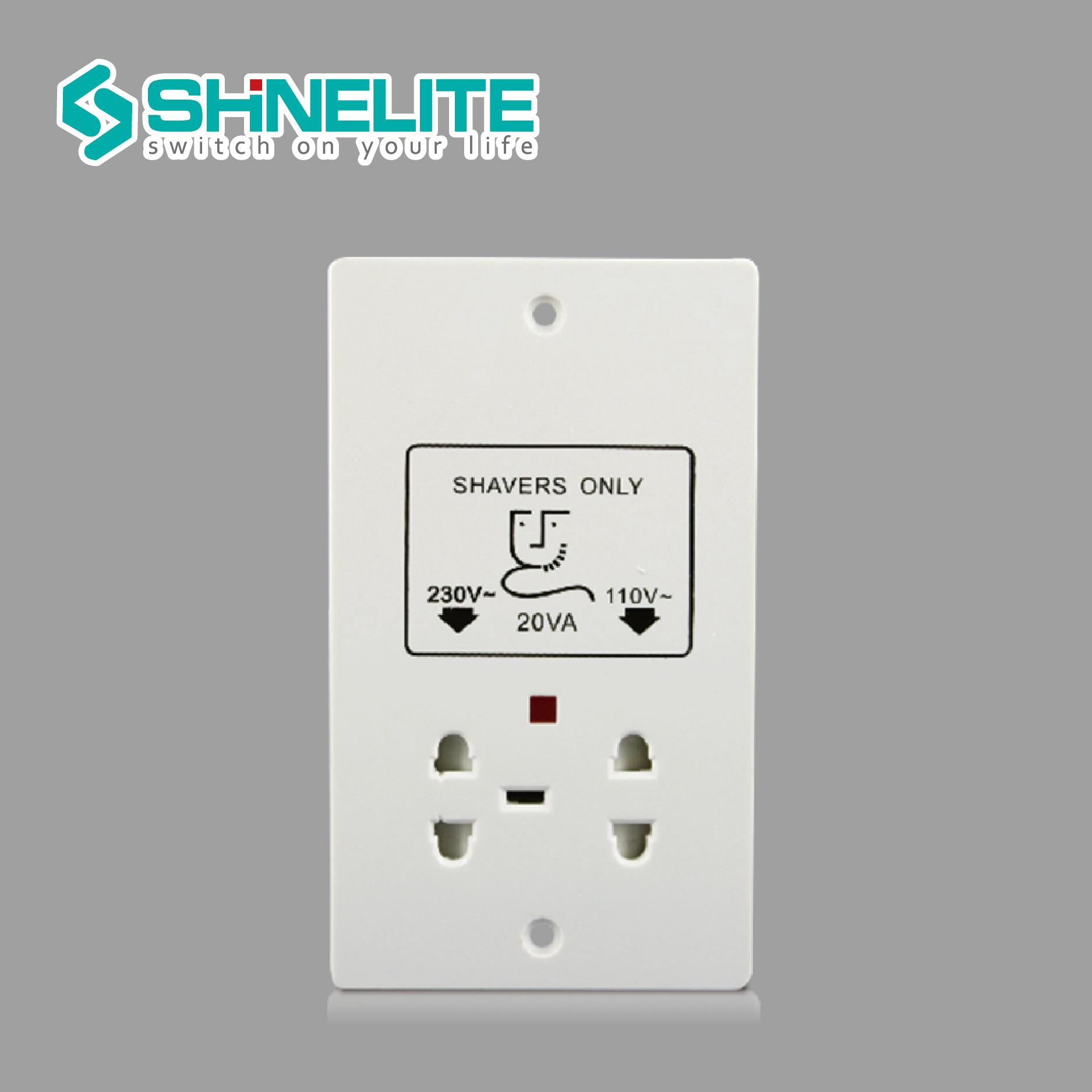 China UK Standard Hotel Wall Electrical Bathroom Shaver Socket ...