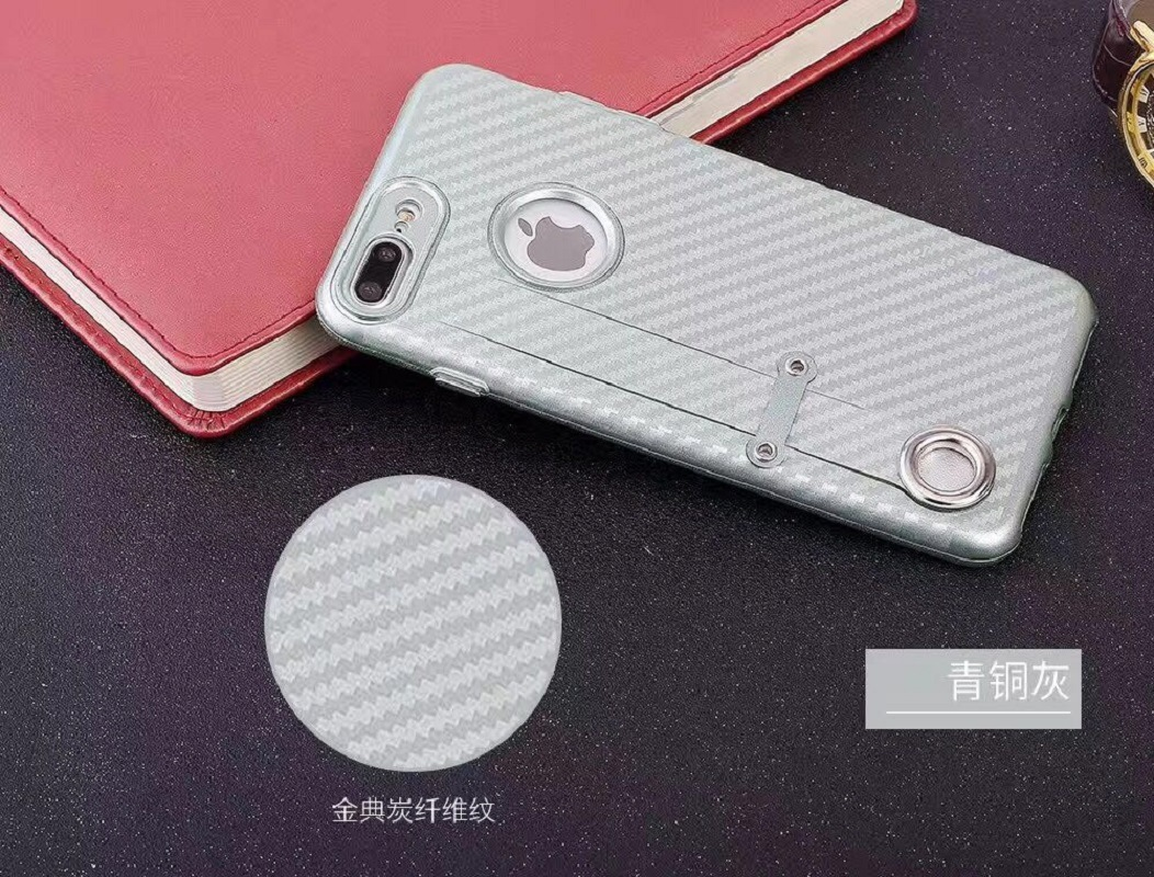 new products a5ac4 1e038 [Hot Item] Carbon Fiber Matte Rubber TPU Back Cover for iPhone 7/7plus