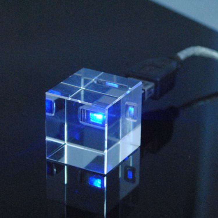 2g 4G 8g 16g Cube Shape Wedding Return Gifts Crystal USB Flash Drives