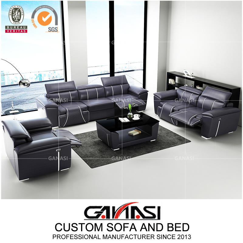 China Living Room Recliner Electric, Electric Leather Sofa