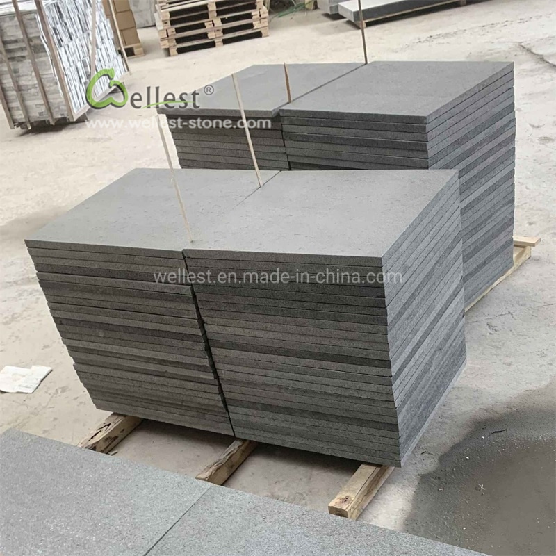 2019 New Black Granite Paving Slabs