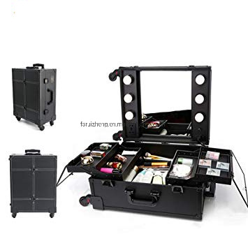 Aluminum Fashion Makeup Artists Box With Led Lights Beuaty Case Professional Lighted Cosmetic Luggage Making Things Convenient For Customers Luggage & Travel Bags