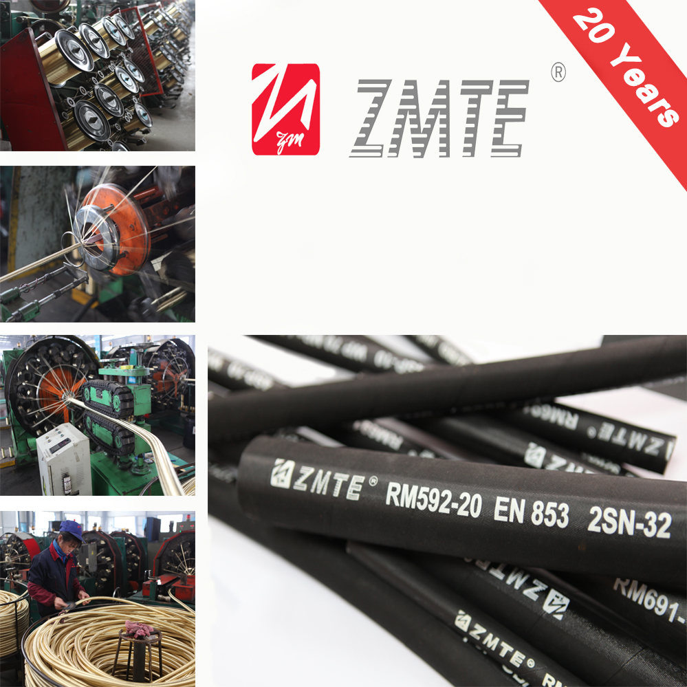 En853 2sn High Pressure Hydraulic Rubber Hose Assembly pictures & photos