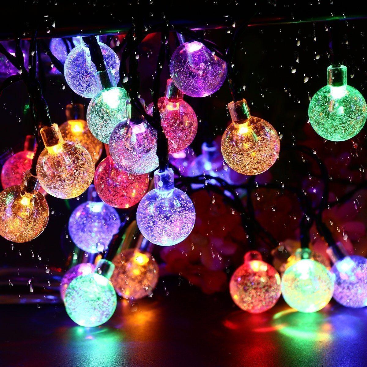 China Solar String Lights Outdoor Led Crystal Balls Waterproof Globe Solar Powered Led Christmas Lights China Led Christmas Lights Solar String Lights Outdoor