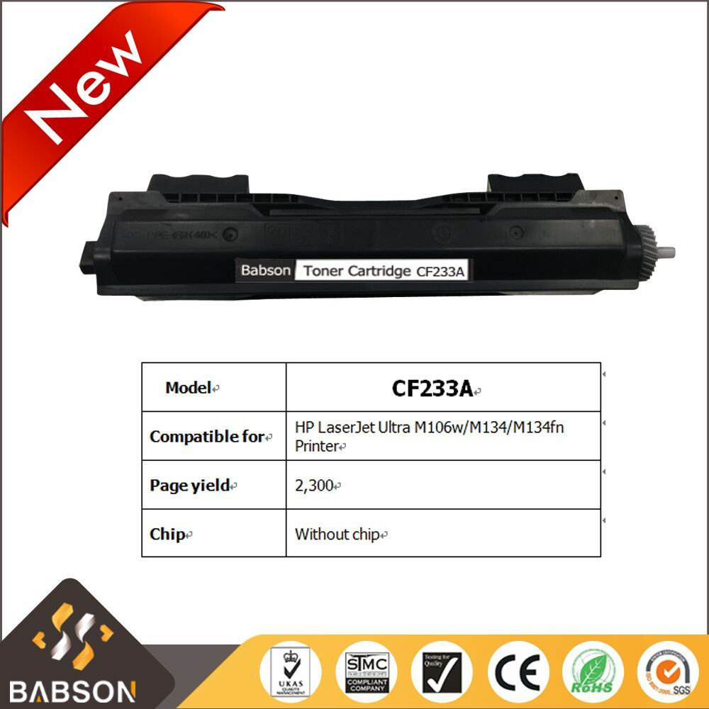China New Product Cf233a Compatible Toner Cartridge For Hp Laserjet 12a Ultra M106w