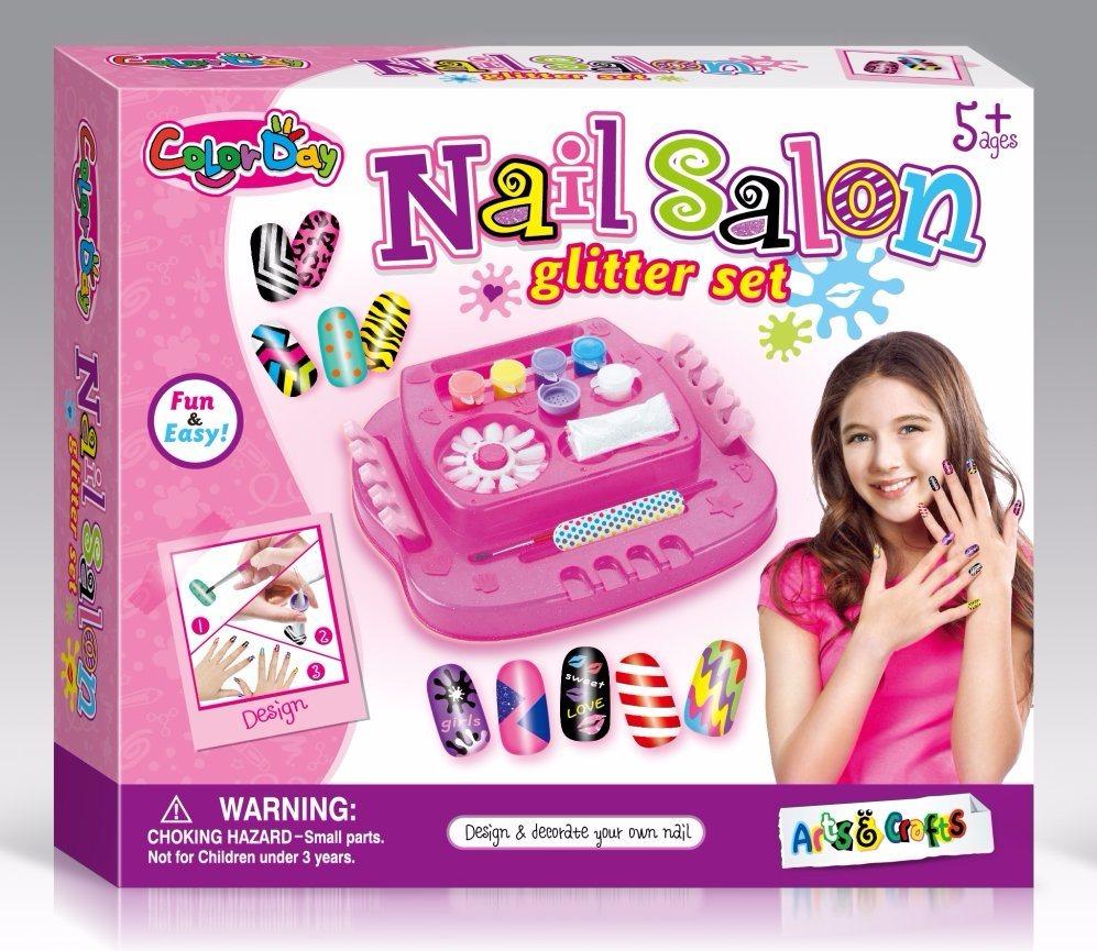 China Kids DIY Decoration Toy-Nail Salon Glitter Set - China Toy ...