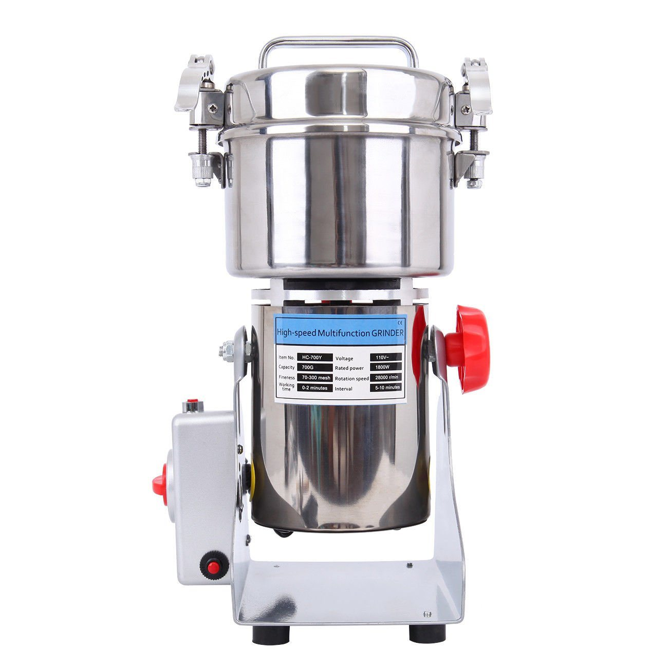 700g Electric Herb Grain Grinder Cereal Wheat Powder Flour Mill Grinding Machine