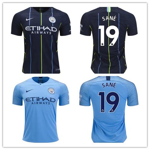 uk availability 14f65 8309c China Manchester C-I-T-Y 19 Leroy Sane Home Away Football ...