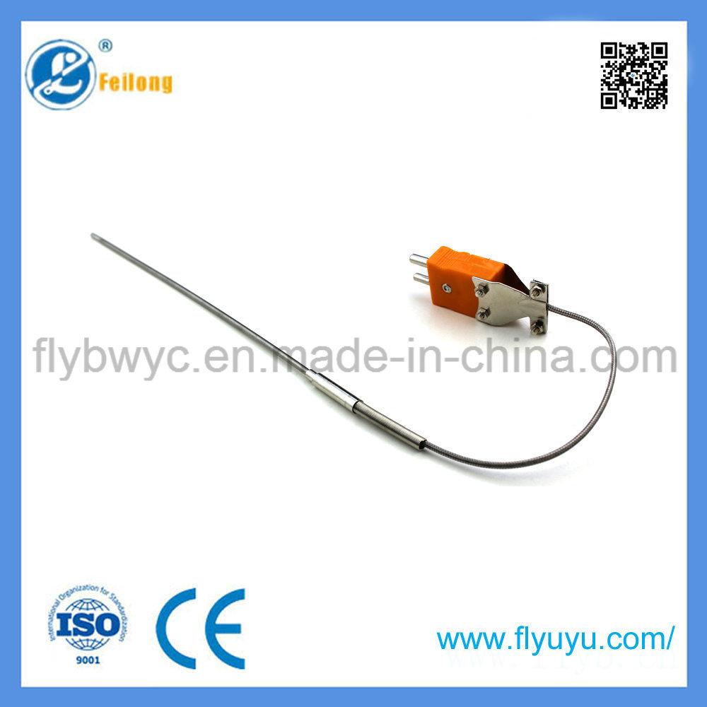 China Needle-Shaped K Type Flexible Temperature Sensor with Plug ...