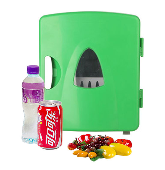 Stylish Mini Fridge 8 Liter DC12V, AC100-240V in Both Cooling and Warming Function