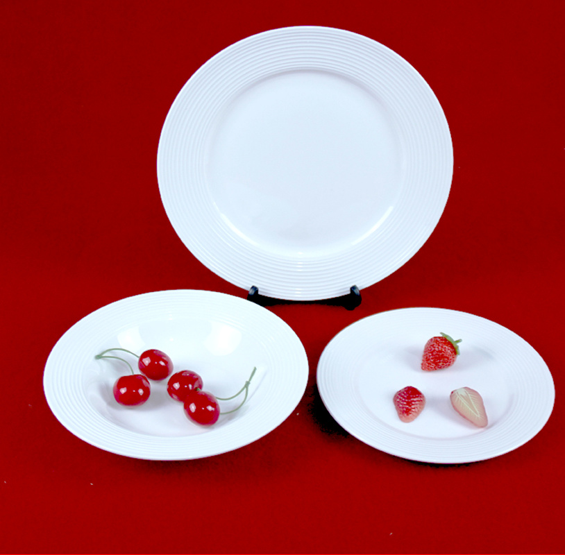 China Ceramic Plate Wholesale Restaurant White Dinner Plates - China ...