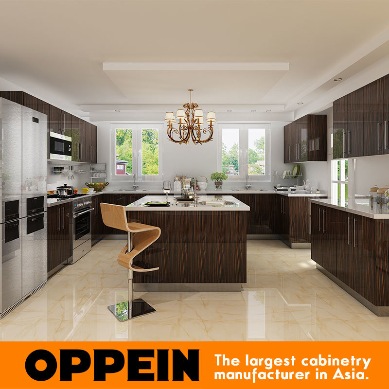 L Wooden Modular Kitchen Manufacturer: China Guangzhou Manufacturer Wood Veneer HPL Wholesale