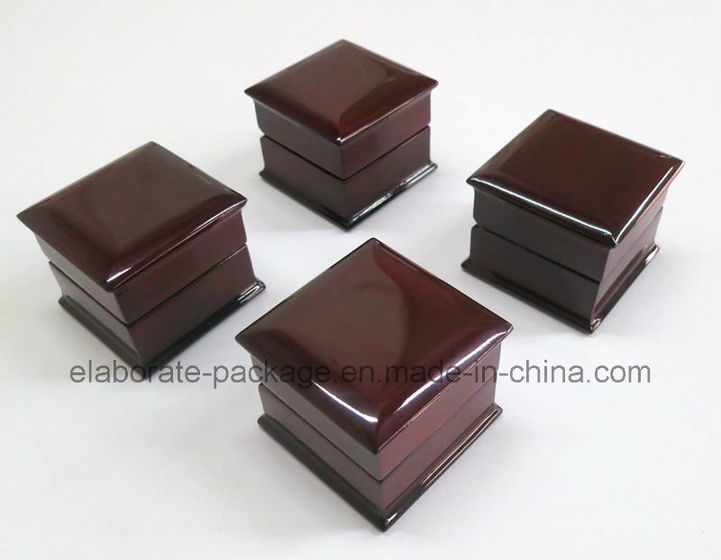 Piano Finish Lacquer Wood Earring Box