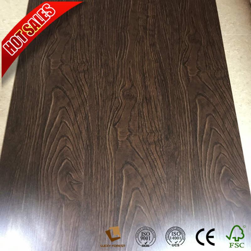 China Herringbone Laminate Flooring Dark Gris Oak Valinge Click