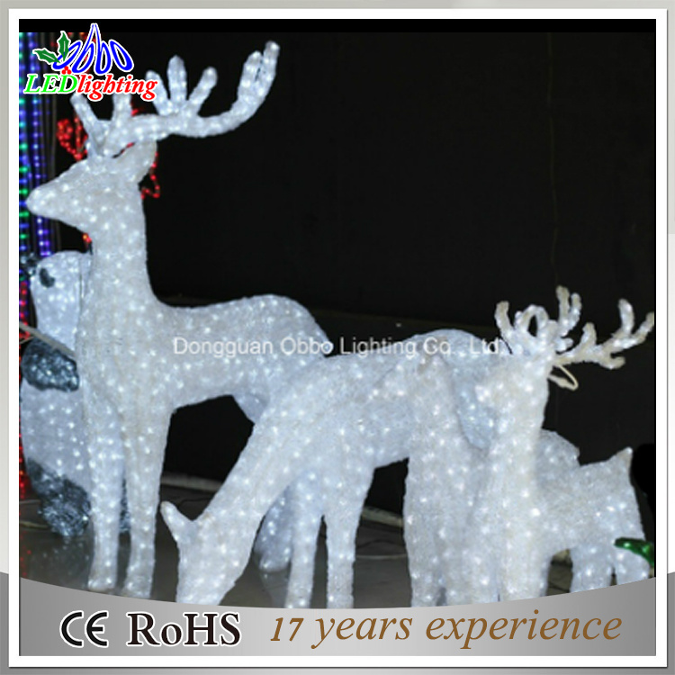 China Outdoor White Lighted Reindeer For Led Christmas