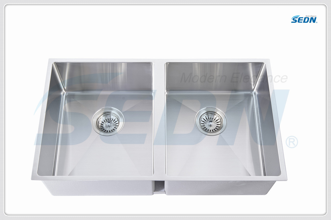 Handmade Double Bowl Stainless Steel Sinks for Kitchen (SB2039A)
