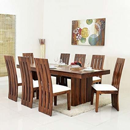 China Living Room Dining Furniture Indian Teak Wood 8 Seater Dining