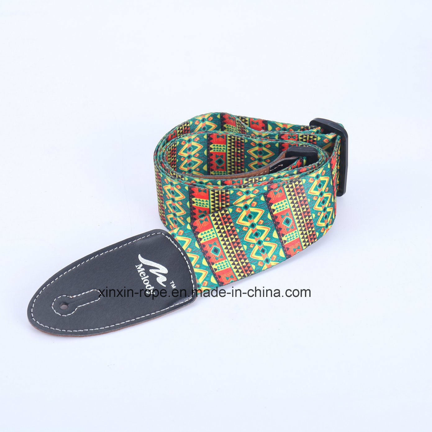 Fashion Jacquard PU Leather Webbing Belt for Guitar
