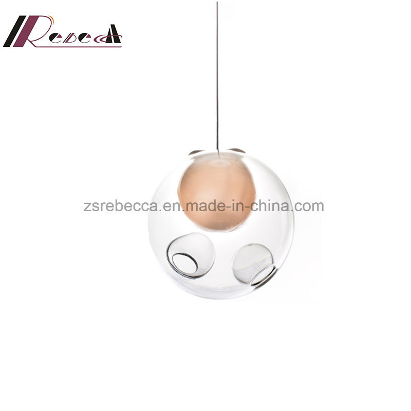 Simple Decoration Glass Ball Pendant Lamp with Dining Room pictures & photos