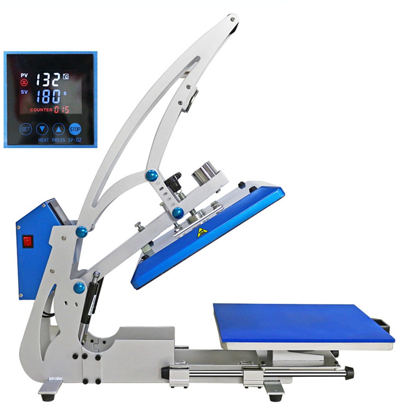 Lasing Cutting Frame Auto Magnetic Heat Press with Drawer Open