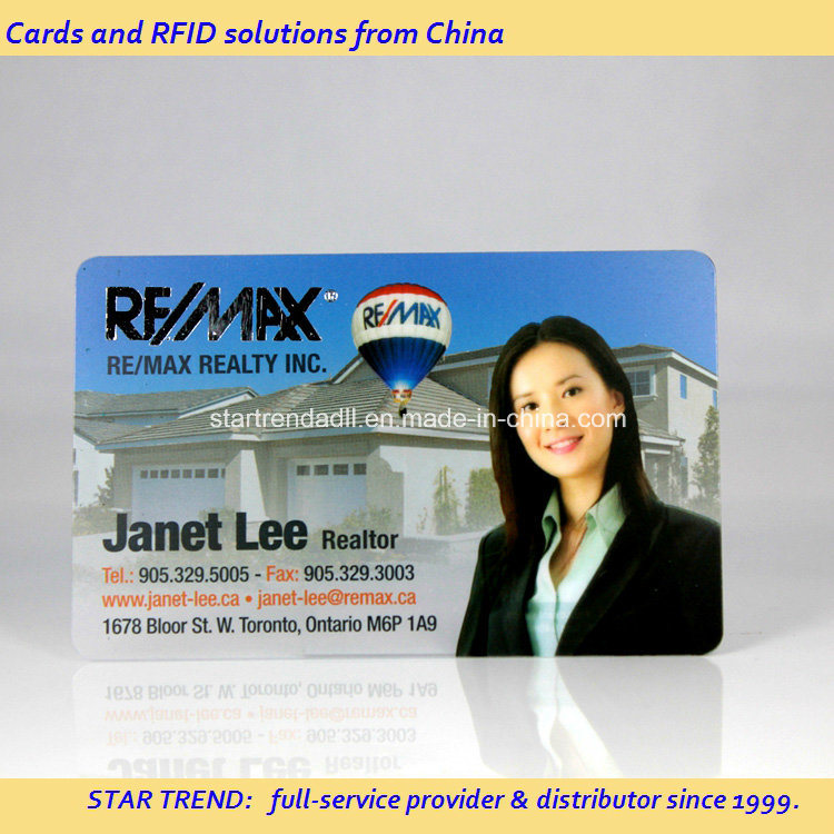 Full Colors Transparent PVC Magetic Stripe Card for Business Card pictures & photos