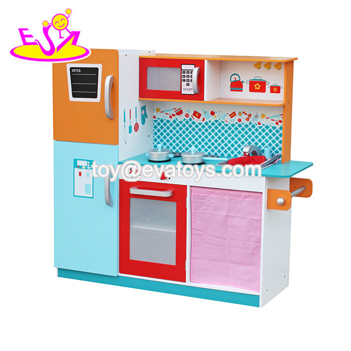 China 2016 New Design Wooden Kitchen Set Toys For Kids W10c205