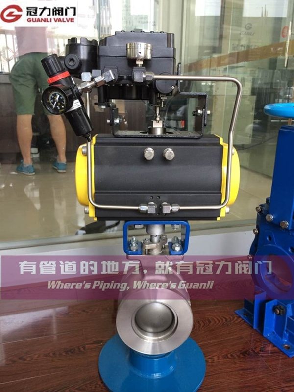 V Segment Ball Valve with Pneumatic Actuator pictures & photos