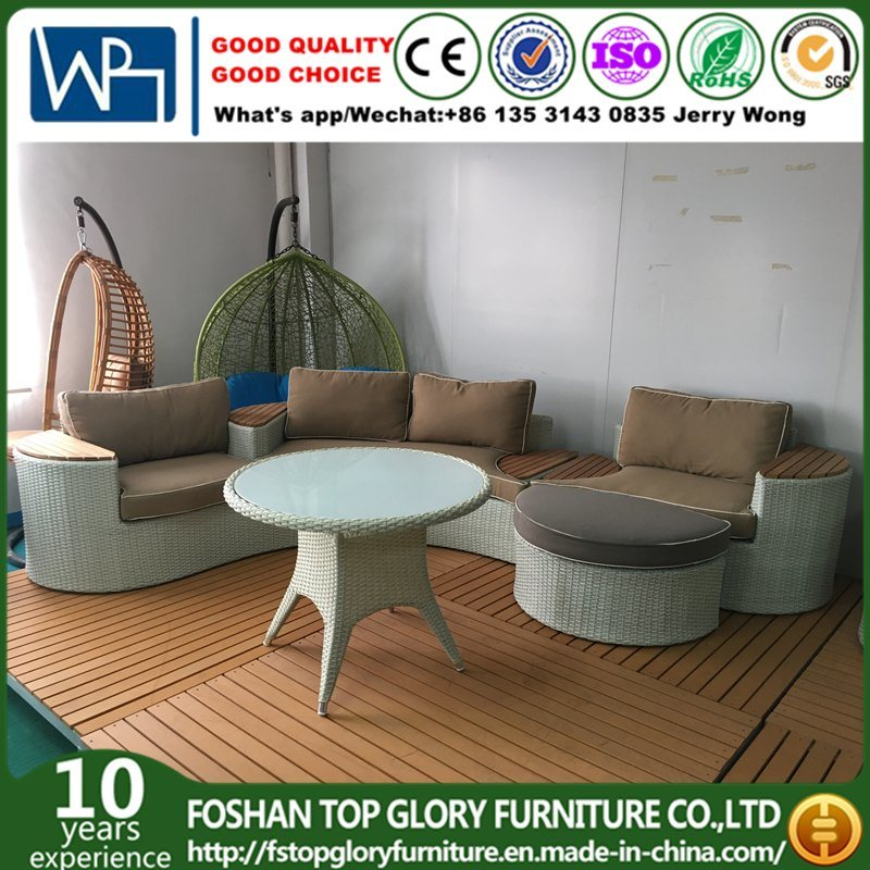 [Hot Item] Outdoor Patio Furniture Rattan and Plastic-Wood Garden Sofa Sets  (TG-10)