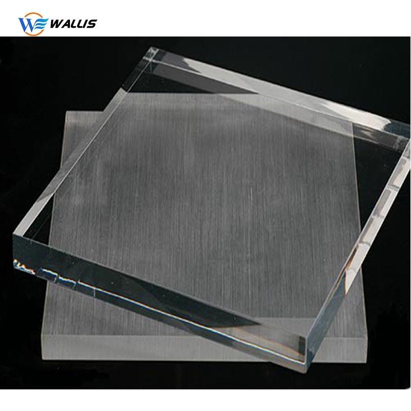 """2 pcs Cast Clear Acrylic 1//8/"""" X 6/"""" X 6/"""" Plexiglass Plastic Sheet Solid"""