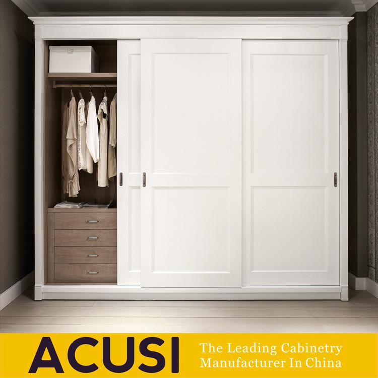 China Customized 3 Doors Painting White Closet Solid Wooden Wardrobe  (ACS3 S07)   China Wardrobe, Wooden Wardrobe Solid