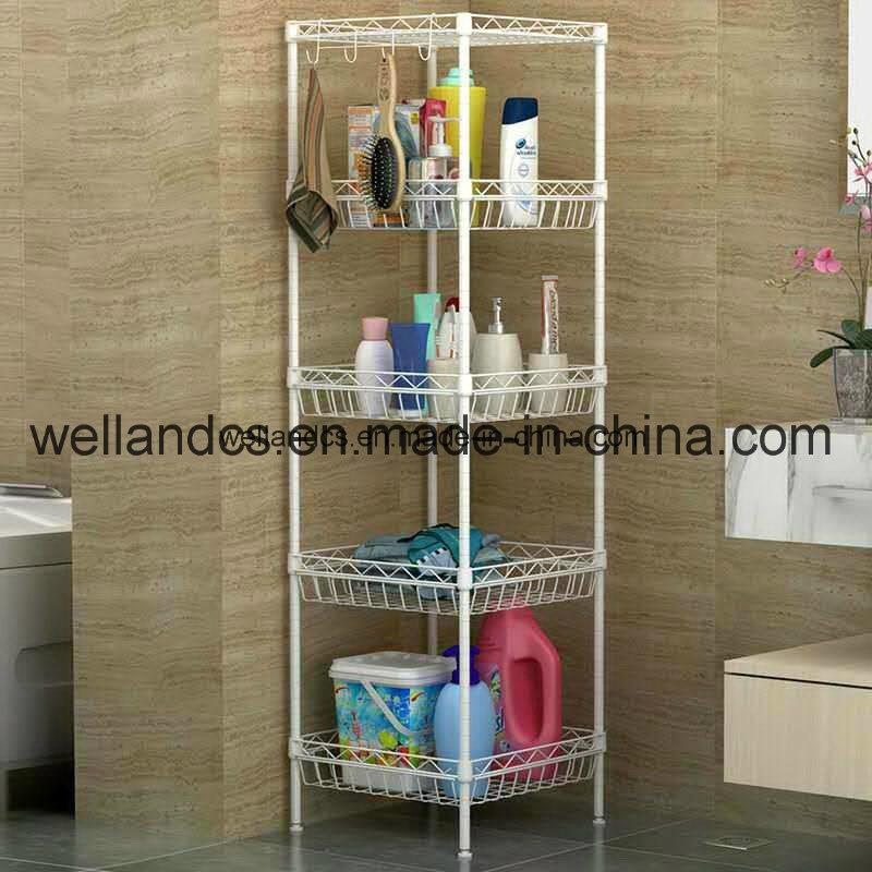 China DIY 3 Tier Metal Chrome Toilet Rack / Bathroom Shelf Photos ...