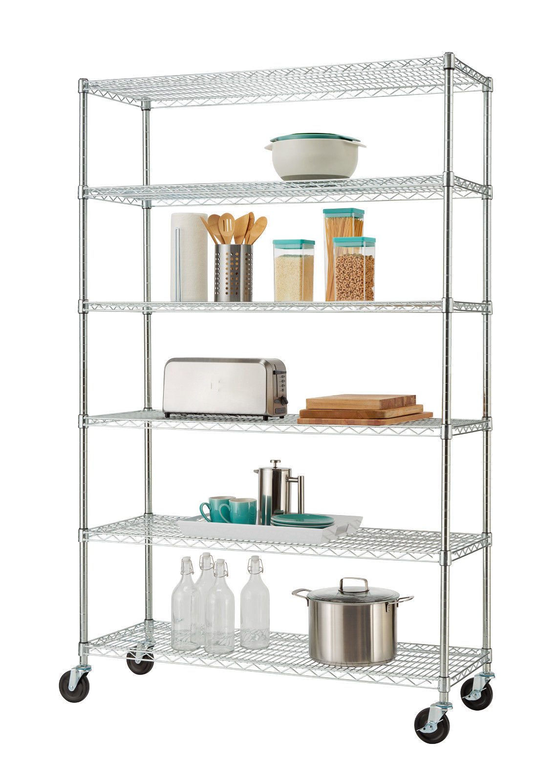 China 6 Tier Commercial Kitchen Shelving Chrome Steel Wire Rack Garage Storage Nsf Bsci Certificate China Rack Storage Rack