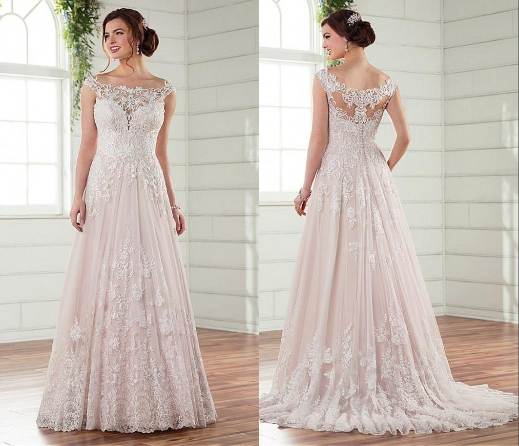 China off Shoulder Bridal Gown Mermaid Champagne Tulle Wedding Dress ...