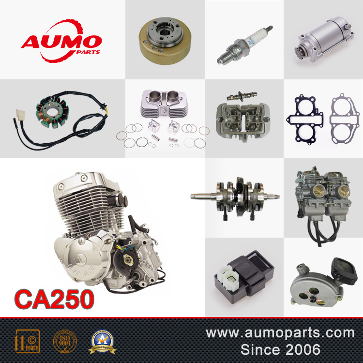 [Hot Item] Two Cylinder Air-Cooled Four Stroke 250cc Motorcyle Engine  Assembly Ca250 Engine