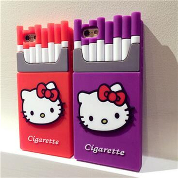 Customized Hello Kitty Cigarette Shape Silicone Cover Case pictures & photos