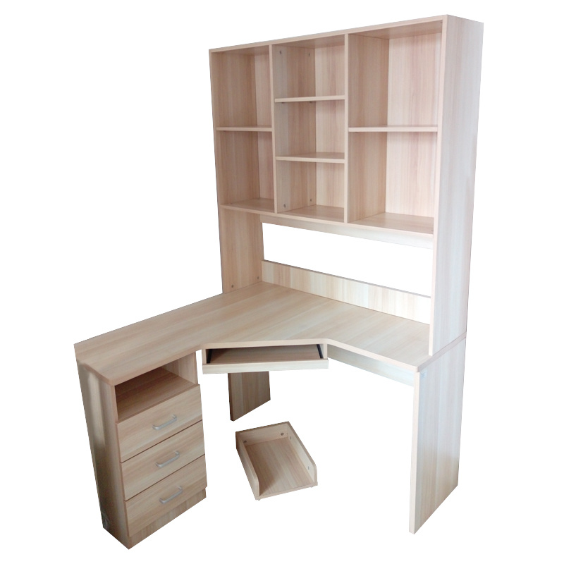 China Mdf With Pvc Bookshelf Computer Desk Office Table