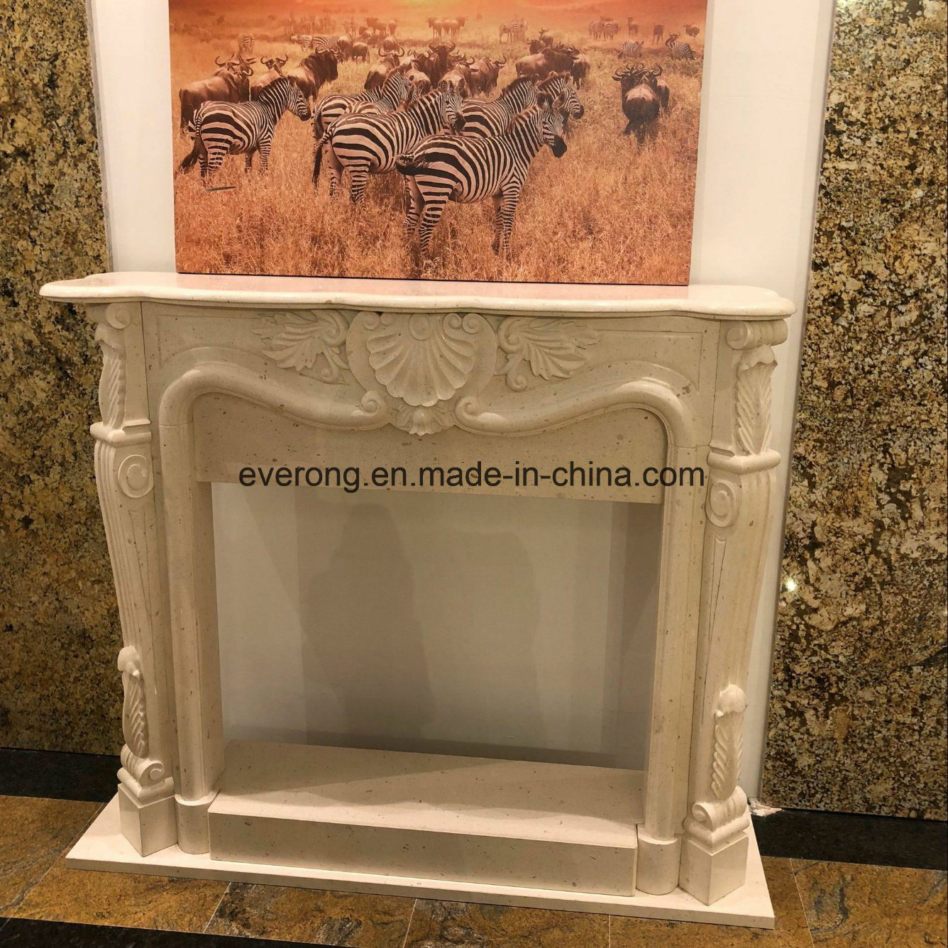 China Cheap Modern Design Stone Marble Fireplace Mantel for Interior Decorative - China Sculpture Marble Fireplace Stone Fireplace Surround & China Cheap Modern Design Stone Marble Fireplace Mantel for Interior ...