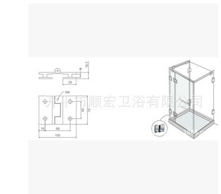 Xc-GF180 Sanitary Hardware Decorative Construction Glass Spring Clamp pictures & photos