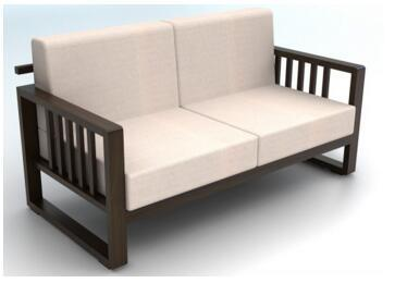 Fashion Modern Wooden Frame Sofa Set Designs With Wooden Leg