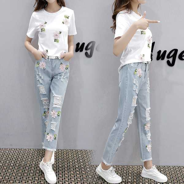 31e7c2cc146 High Waist Stock Women Denim Jeans Nice Washing Fashion Apparel Spandex  Jeans for Women Casual Ripped Jeans Ladies Hop Hip Denim Pants Hole  Trousers Used ...