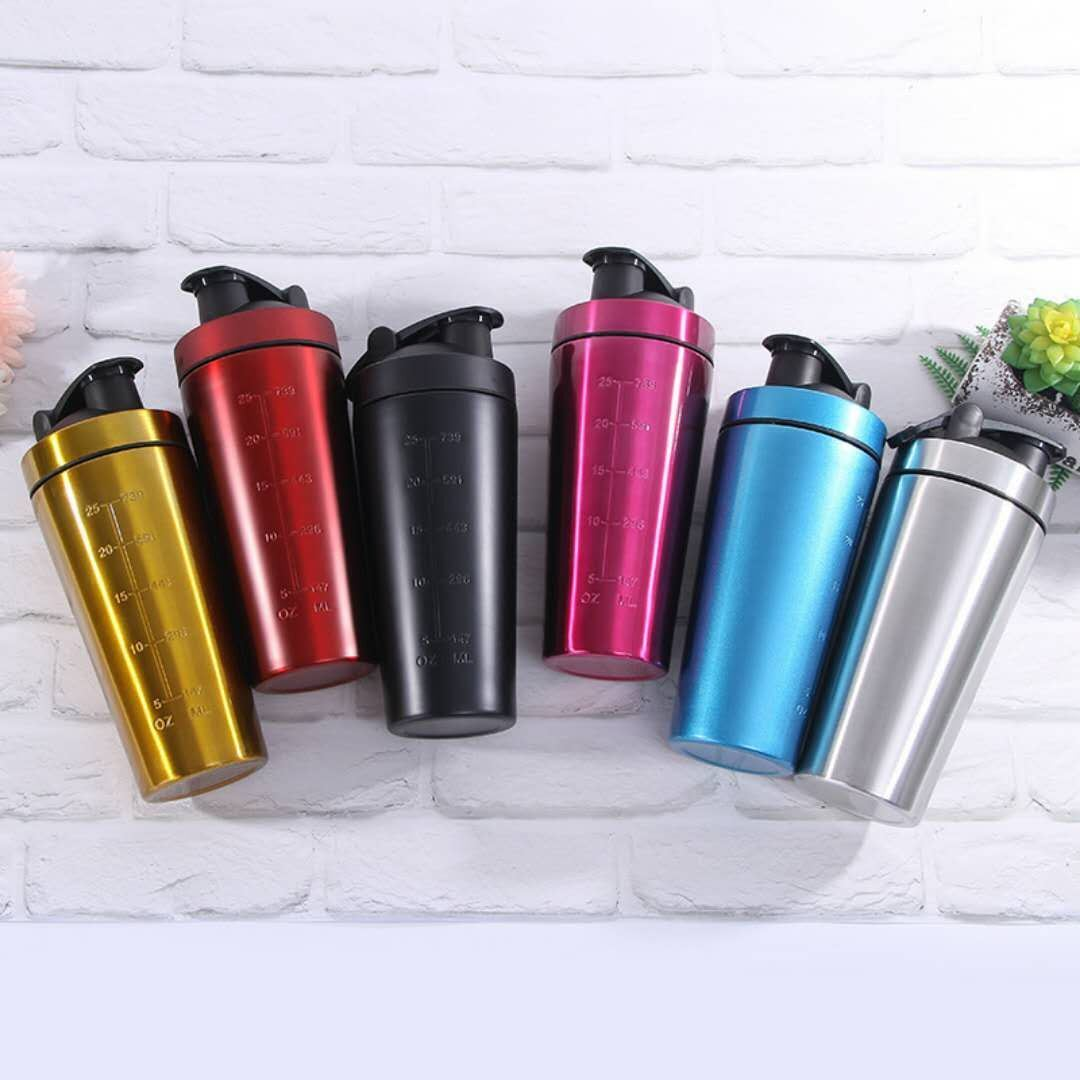 59556b4e681b China 720ml Protein Shaker Double Wall Stainless Steel Water Bottle Mixing  Cup with Mixer Ball - China Mixing Cup