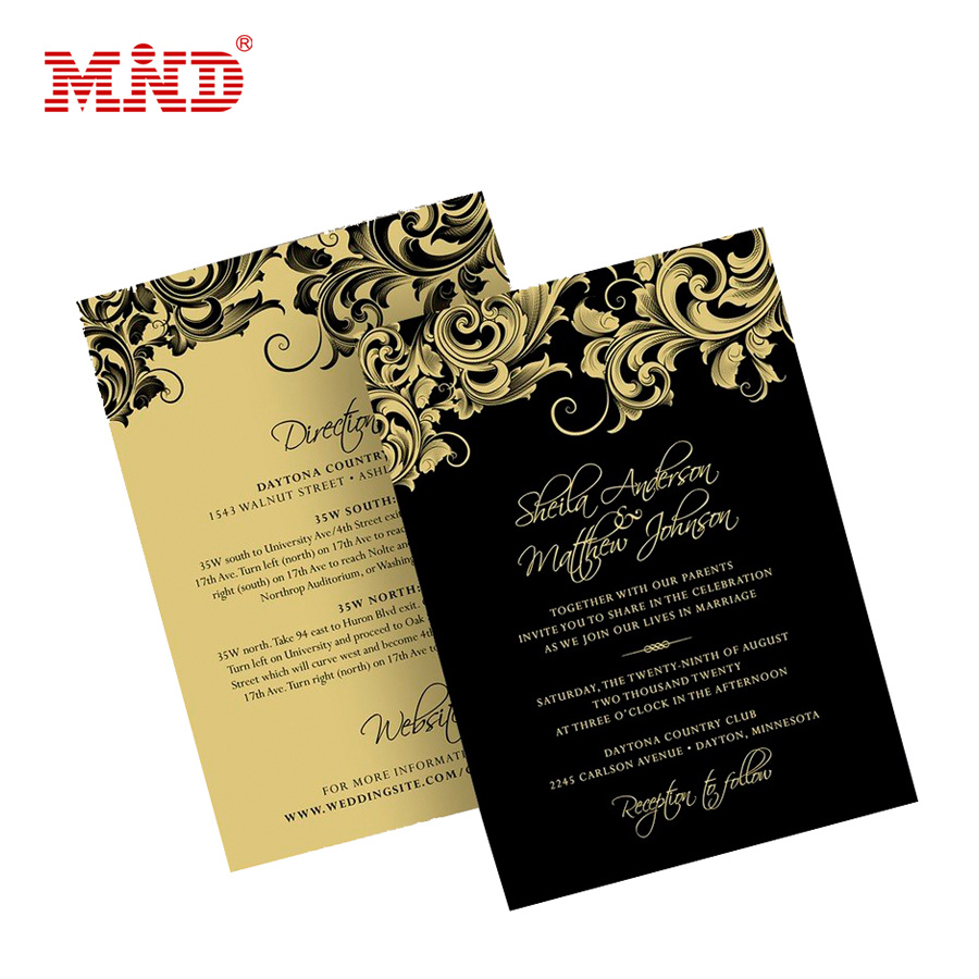 China Double Sided Gold Foil Printed