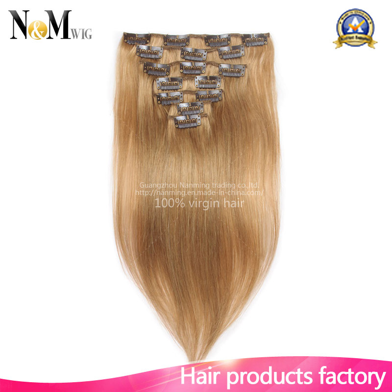 China Full Head Luxury Clip In Hair Extensions 140g 180g 220g 260g