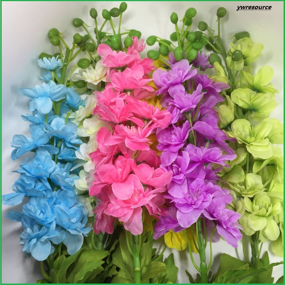 China Silk Artificial Flowers Fake Delphinium For Home Wedding
