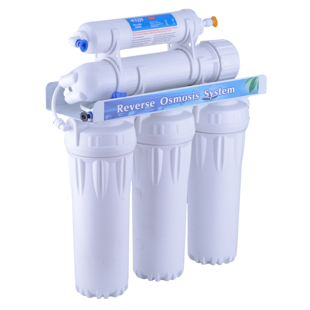 China 5 Stage Reverse Osmosis System Without Pump Ro Stages Bracket